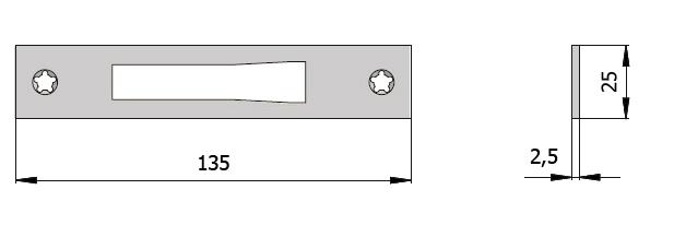 CHAPA TESTA 7815 INOX