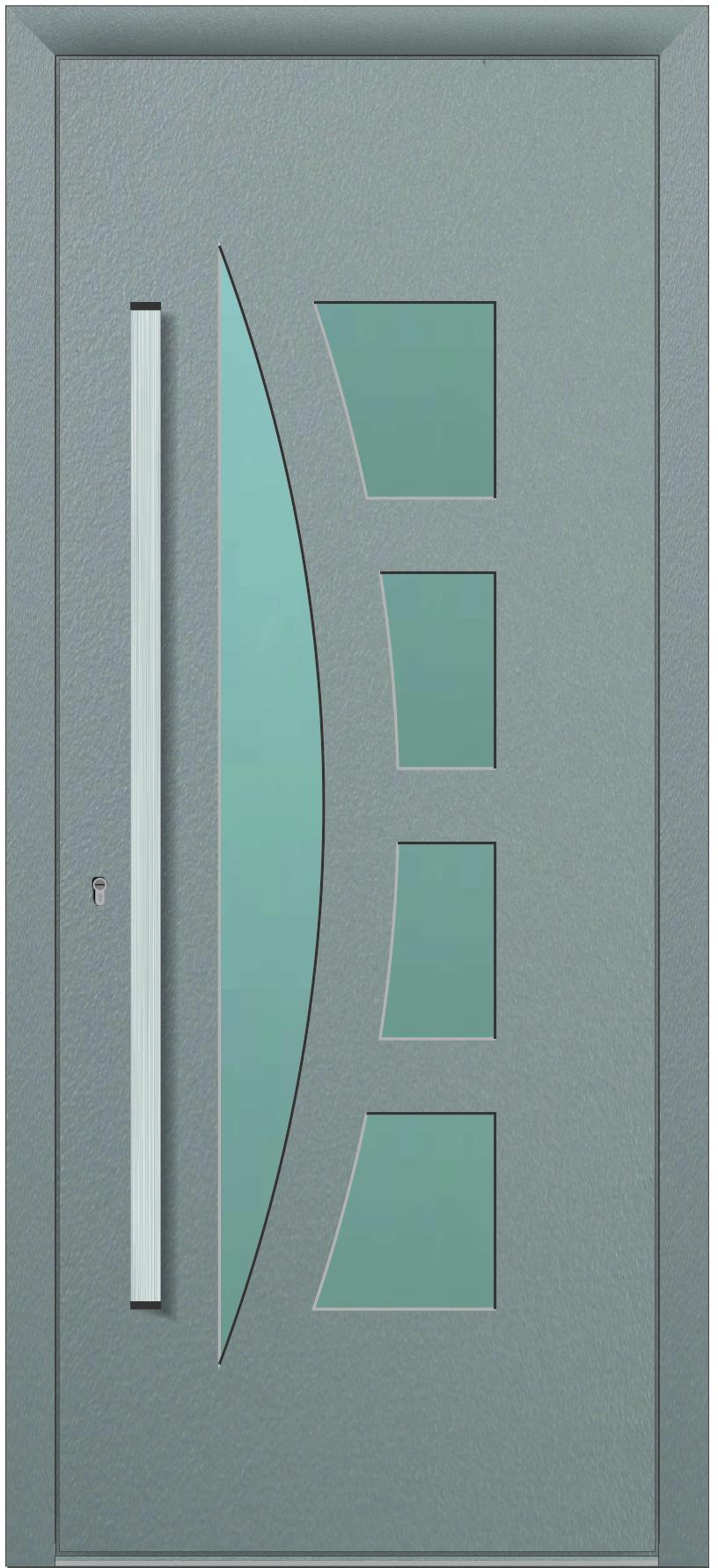 PORTA MOD. TCD-42 V.LAMINADO C/2100X900X28MM LAC.7016 TEXT./ 9003 MATE TITAN